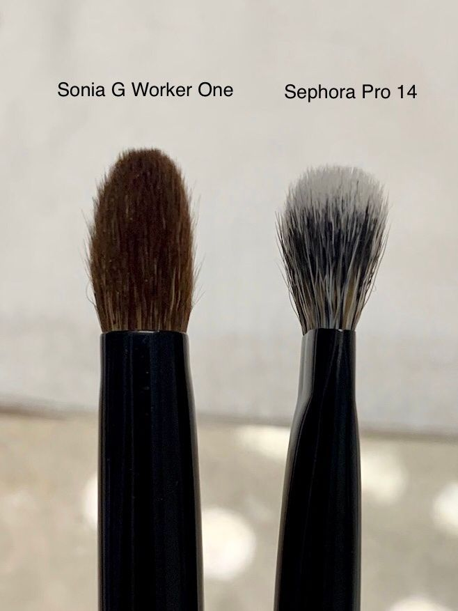 Side profile of Sephora Pro 14 vs. Sonia G Worker Pro.