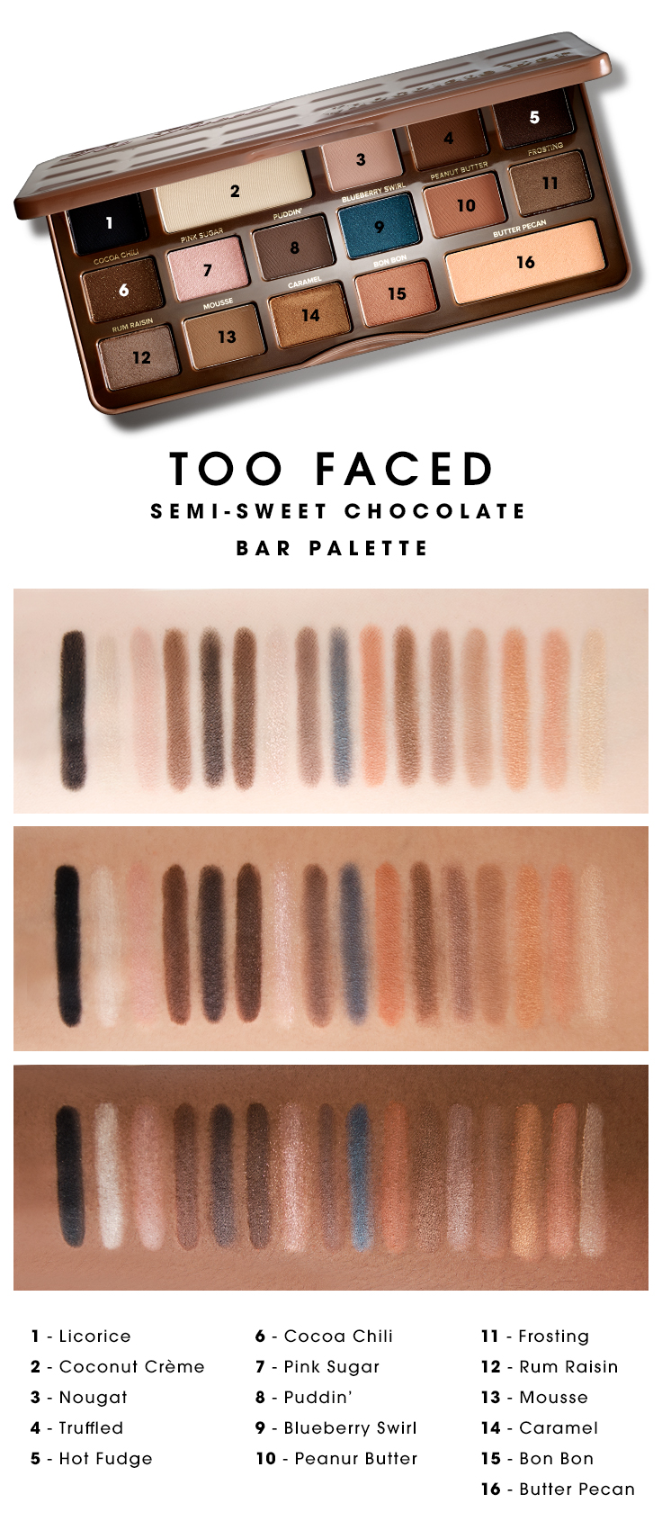 Too Faced Semi-Sweet Chocolate Bar Palet...