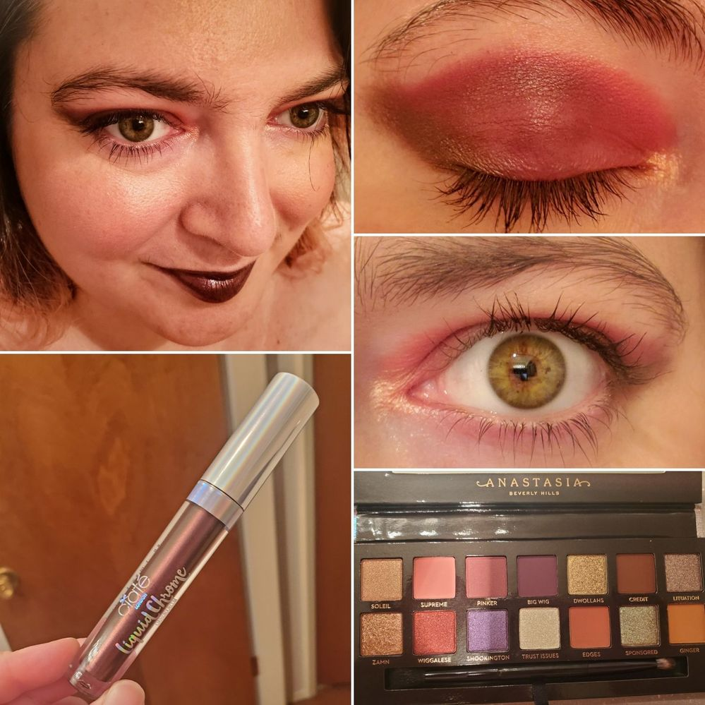 More ABH Jackie Aina. Supreme, pinker and lituation with soleil in the inner corner. I really liked the way supreme performed, and they're all SO pigmented. Still trying to get all of the shades to work with my eyes, more primer/base combos to try, lol.