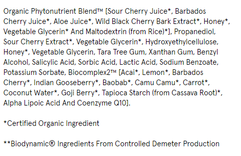 Ingredients list from dermstore (dot) com