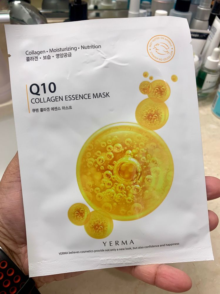 I think this is the first and only Yerma mask I've ever used.