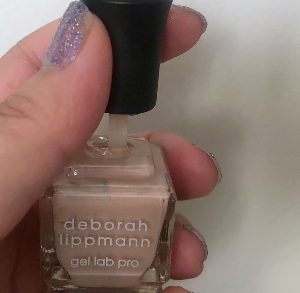 Destash - ruh-roh! I don't know how this happened, but part of the bottle ended up inside the cap. It must have fallen and then been stepped on (?). Sad to have to toss this one - Deborah Lippman Naked is my favorite neutral/nude. I won't be sad for too long though - I have several backups. Ha!