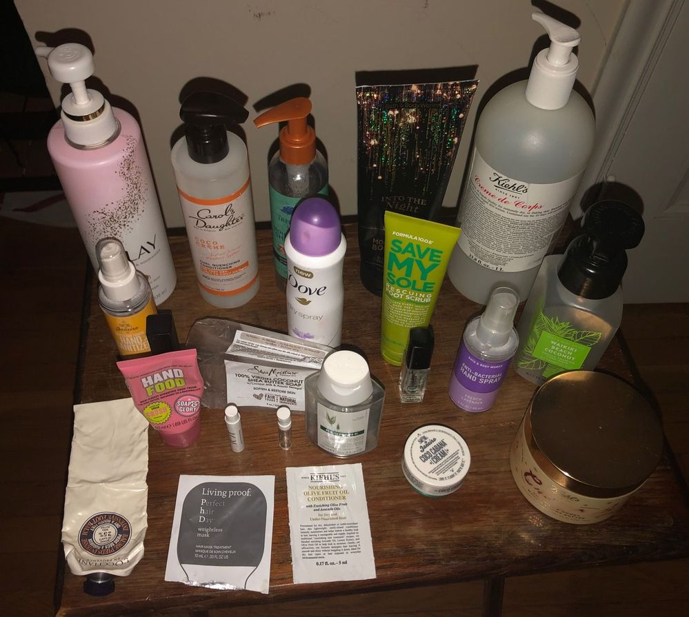 October Body Care / Haircare Empties