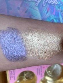 Metallic eye pigment; LIT chrome highlighter
