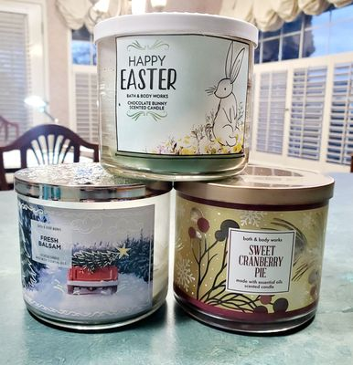 Disregard the fact that one of these has an Easter label; it smelled like chocolate.  'Nuff said.