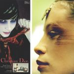 left: serge lutens for dior cosmetics, 1970s. right: inge grognard for dries van noten runway show a/w 1997