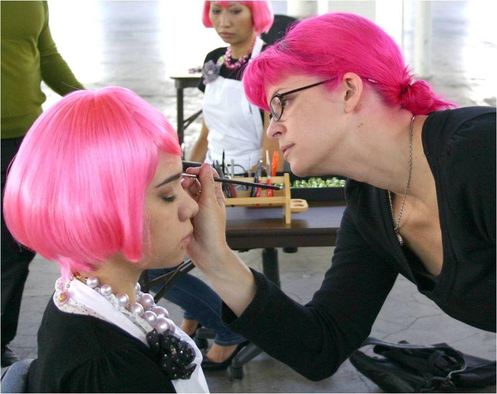 Tarina applying makeup.jpg
