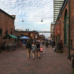 Distillery District for dinner.