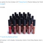 BoxyCharm Oct. 2017 Spoiler