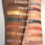 Bottom row of Prism Palette shades