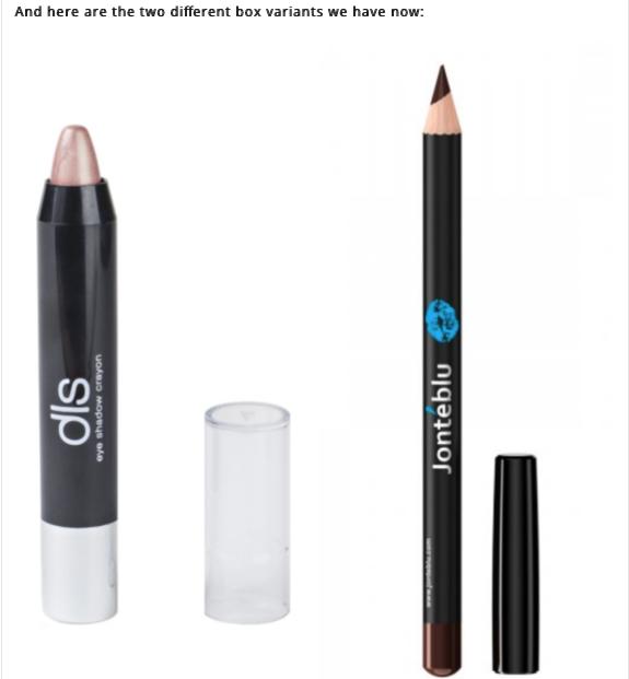 dls Eyeshadow Crayon and Jonteblu Lip Liner