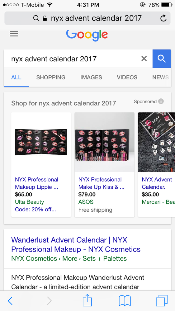 Google NYX advent calendar and click the ulta beauty code:20% of and you will get a discount code, not sure if it's unique or not.