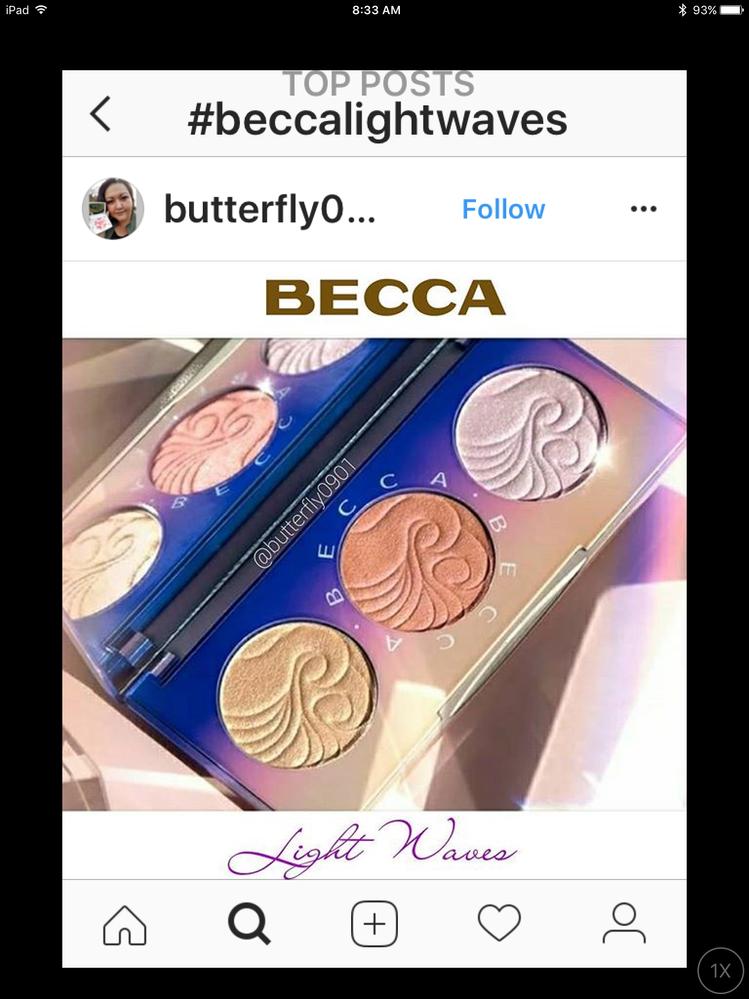 Becca light waves palette