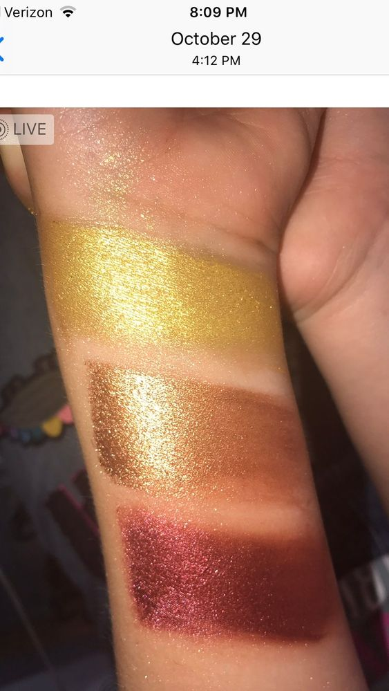 My daughter did these swatches when they first came out.