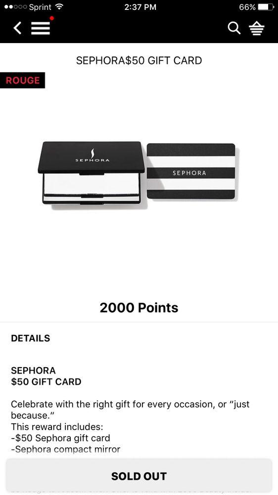Hey Sephora I Went To Use My Rewards P Beauty Insider Community