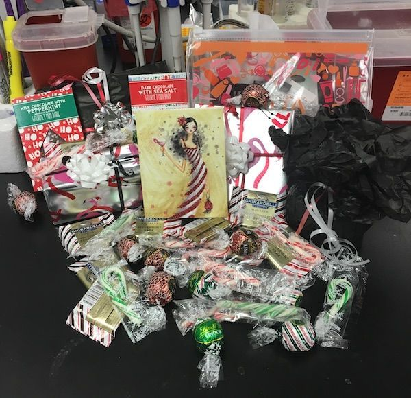 All the unwrapped contents displayed. SOOO much candy. I'm going to have a chocolate overload.
