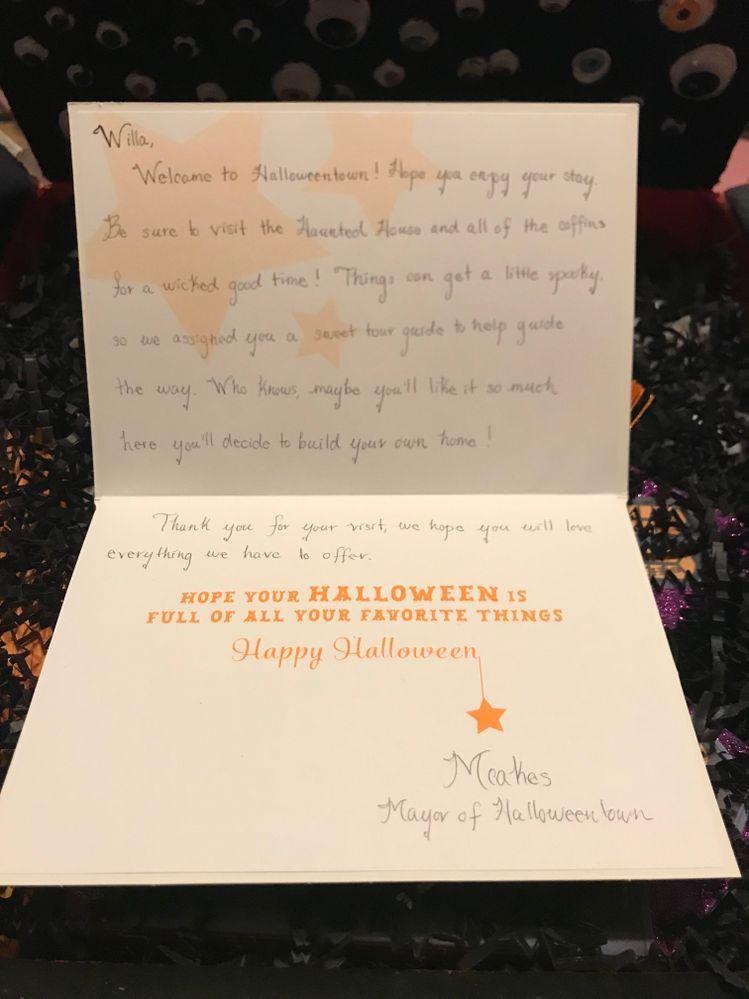 Mcakes beautifully handwritten card!