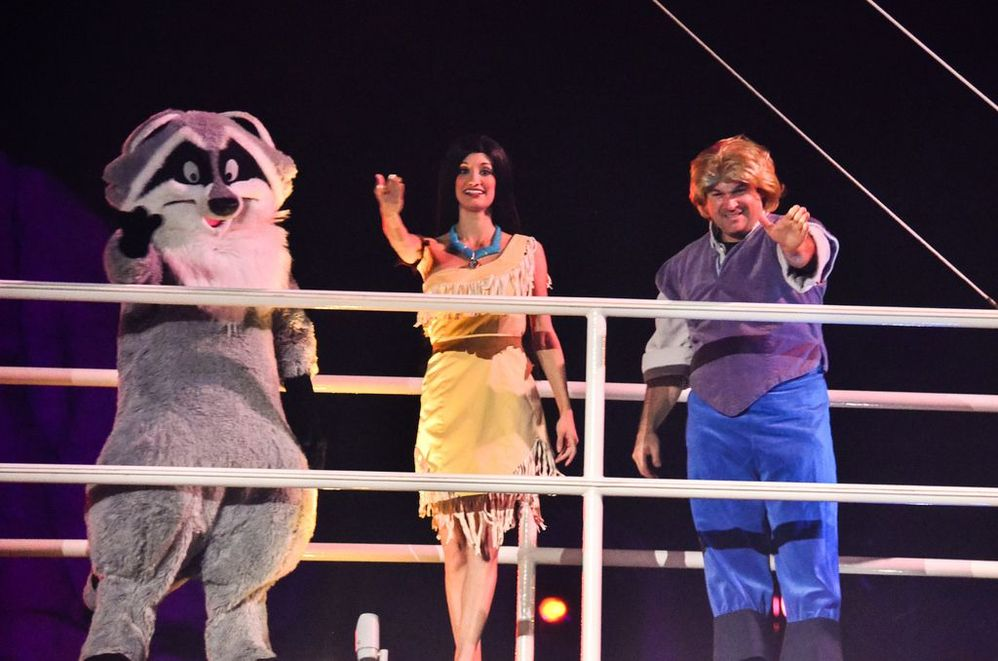 Meeko? Pocahontas and John Smith during Fantasmic (b/c we all know how John Smith ends up in the real story)