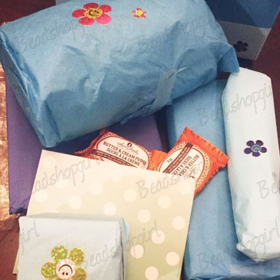 Lovely tissue-wrapped surprises!