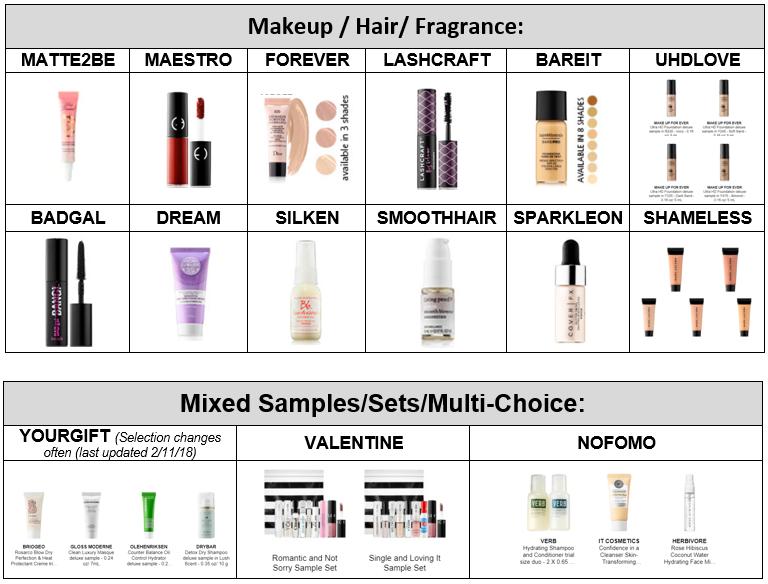 Makeup, hair, and mixed item